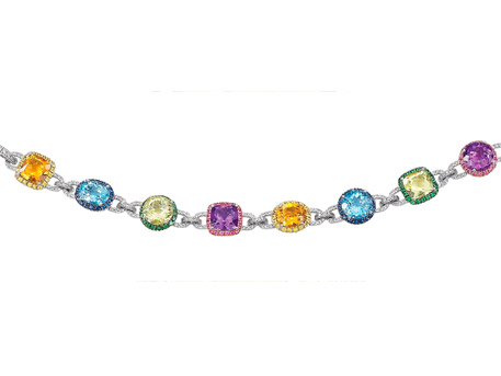 Multicolor Gemstone Bracelet - Please visit our store to see our entire collection of color fashion jewelry