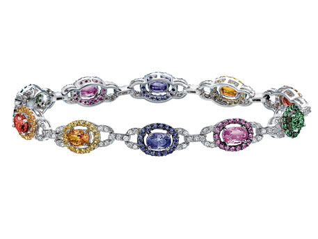 Multicolor Sapphire Bracelet - Please visit our store to see our entire collection of color fashion jewelry