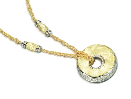 Gold Circle Pendant - Please visit our store to see our entire collection of diamond fashion jewelry