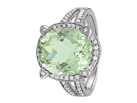 Green Quartz Ring - Please visit our store to see our entire collection of color fashion jewelry