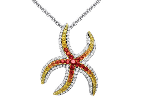 Starfish Pendant - Please visit our store to see our entire collection of color fashion jewelry
